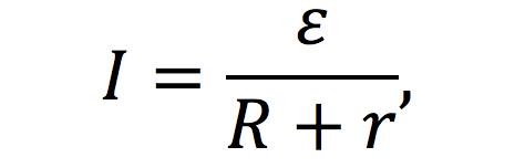 Фото формула закона Ома для полной цепи