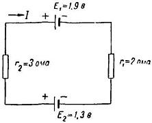 пример применения второго правила Кирхгофа